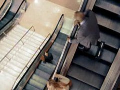 Thumbnail of Stuck on an escalator