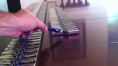 Thumbnail of Guy connects 244 9v batteries in a row...