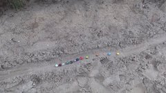 Thumbnail of Oddly Satisfying (Marble racing in sand)