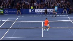 Thumbnail of Federer gets lobbed by a kid