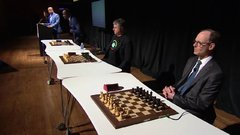 Thumbnail of Magnus Carlsen Blind & Timed Chess Simul at the Sohn Conference in NYC