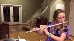 Thumbnail of Dog Howling at flute playing