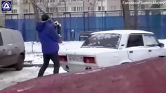 Thumbnail of How to park a car...In Russia.