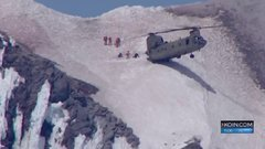Thumbnail of Chinook helicopter makes daring rescue on Mt. Hood