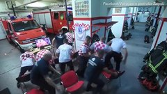 Thumbnail of Croatian firefighters during World Cup 2018