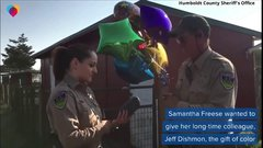 Thumbnail of Sheriff's deputy sees color for first time thanks to coworker's gift