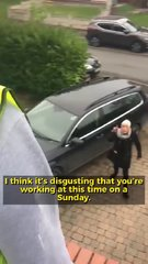 Thumbnail of Crazy women doesn't like builders working in the morning
