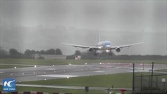 Thumbnail of Pilot nails sideways landing in 40-knot crosswinds at Bristol Airport