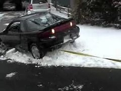 Thumbnail of How NOT to pull your car out of the snow