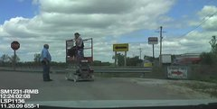 Thumbnail of Good ol'boy taking a scizzor lift to the beer store.